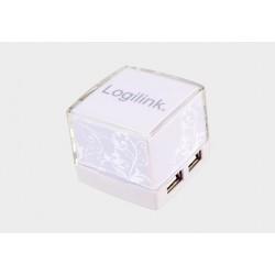 Hub USB 2.0 4 porty kostka biały Logilink