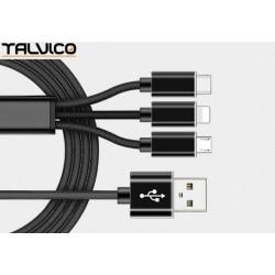 Przyłącze USB uniwersalne do smartphonów 1,2m DSKU701 Talvico