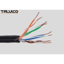 Przewód skrętka Talvico L-500 drut UTP kat.5e zewnętrzna UV 305m