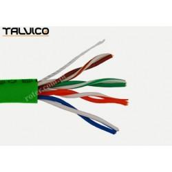 Przewód skrętka Talvico L-210 drut UTP CCA zielony 305m