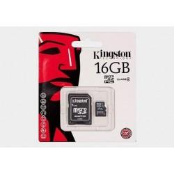 Karta mikro SDHC 16GB Kingston (class 4)+adapter