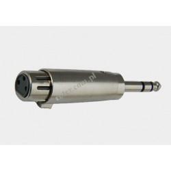 Adapter gniazdo XLR 3p / wtyk 6,3 stereo