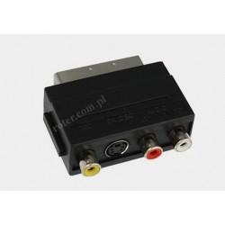 Adapter wtyk SCART / 3*gniazdo RCA+SVHS z przełącznikiem