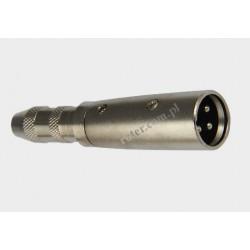 Adapter wtyk XLR 3p / gniazdo 6,3 stereo