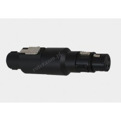 Adapter gniazdo XLR 3p / wtyk Speakon
