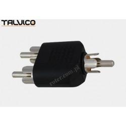 Adapter wtyk RCA / 2*wtyk RCA