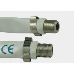 Adapter gniazdo F / gniazdo F okienny na płaskim kablu