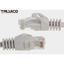 Patch cord FTP kat.5e CCA 1,0m szary 5P45