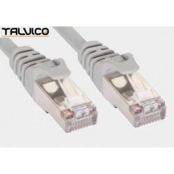 Patch cord FTP kat.5e CCA 0,5m szary 5P45
