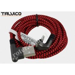 Przyłącze USB-mikro USB 2,5m 2A max DSF601 Talvico
