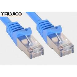 Patch cord FTP kat.5e CCA 0,5m niebieski 5P45