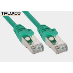 Patch cord FTP kat.5e CCA 1,0m zielony 5P45