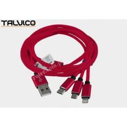 Przyłącze USB uniwersalne do smartphonów 2,5m 2A max DSKU700 Talvico