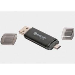 Pamięć USB 2.0+mikro USB 32GB Platinet X-DEPO Black