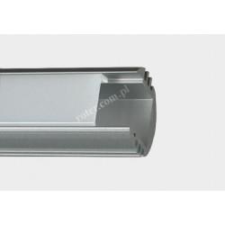 Profil LED szer. z 18/szer. w. 11/wys. 16mm dług. 1m / klosz, 2 x zaślepka