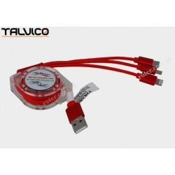 Przyłącze USB uniwersalne do smartphonów 1,0m DSKU707 Talvico