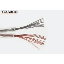 Przewód głośnikowy CCA, transparent, 2*0,35 (szpula)