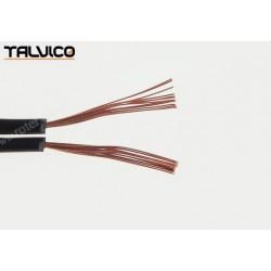 Przewód głośnikowy czarny z paskiem, 2*0,22 (szpula)