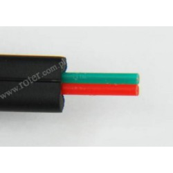 Przewód telefoniczny 2C, czarny CCA (rolka 100m)