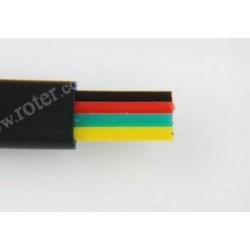 Przewód telefoniczny 4C, czarny CCA (rolka 100m)
