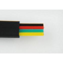 Przewód telefoniczny 4C, czarny Cu TP-2045 Talvico