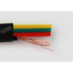 Przewód telefoniczny 4C, czarny Cu*7 (rolka 300m)
