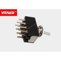 Przeł. dźwigniowy 12pin/3poz on-off-on VS5026 Vitalco PRV150