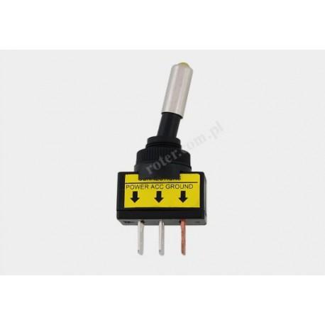 Przeł. dźwigniowy plastik (dioda żółta)