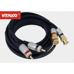 Przyłącze 2*wtyk BNC/2*wtyk RCA digital 3,0m BNK42 Vitalco