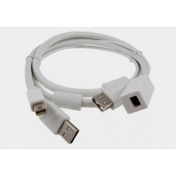 Adapter DisplayPort mini / gniazdo DisplayPort mini + USB (IC)