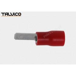 Konektor izolowany 2,8 x 0,5 męski czerwony