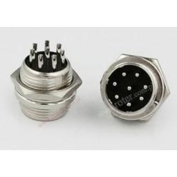 Wtyk mikrofonowy CB 8 pin / montażowy metal