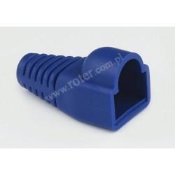 Osłona wtyku 8P8C, niebieska