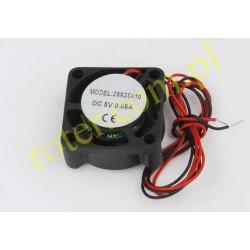 Wentylator 12V, 2 przewody / 25 x 10 / 10000RPM / 2,1CFM / 22,4dB / 0,05A / ślizgowy