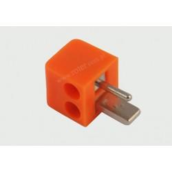 Wtyk głośnikowy mini pomarańczowy