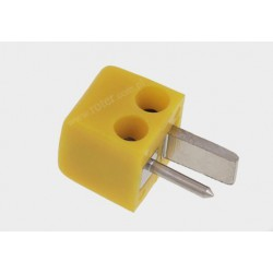 Wtyk głośnikowy mini żółty