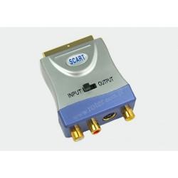 Adapter wtyk SCART / 3*gniazdo RCA+SVHS z przełącznikiem FT389
