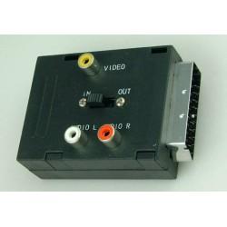 Adapter wtyk SCART / gniazdo SCART+3*gniazdo RCA z przełącznikiem