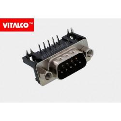 Złącze D-SUB 9M kątowe Vitalco