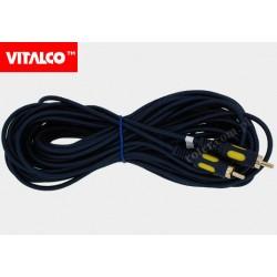 Przyłącze 1*wtyk RCA / 1*wtyk RCA RKD138 łezka 12m Vitalco