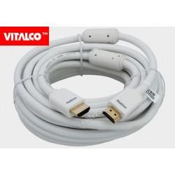 Przyłącze HDMI złote białe 7,5m Vitalco