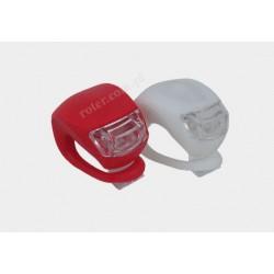 Lampki silikonowe rowerowe (zestaw 2szt.)