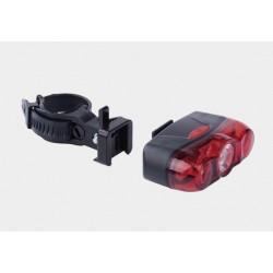 Lampa rowerowa tył 1x0,5W+2x5mm LED