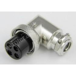 Gniazdo mikrof. CB 4p kątowe na kabel RoHS