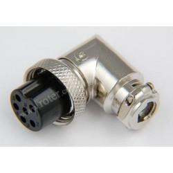 Gniazdo mikrof. CB 6p kątowe na kabel RoHS