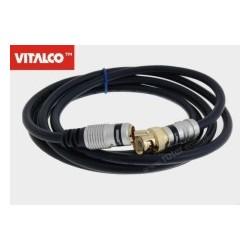 Przyłącze 1*wtyk BNC/1*wtyk RCA digital 3,0m BNK40 Vitalco