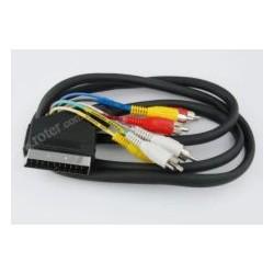 Przyłącze SCART / 6*wtyk RCA, 1,2m CCA