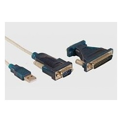 Konwerter USB 2.0 / RS232(9M) + adapter Logilink
