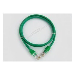 Patch cord UTP CCA 0,5m zielony