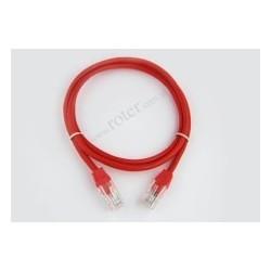 Patch cord UTP CCA 1,0m czerwony